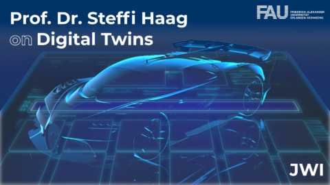 Title picture showing a hologram/ digital twin of a car