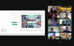 Screenshot of the final presentations of User Experience in a Business Context
